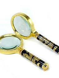Exquisite High End Dragon Handle 7 Times Copper Frame Metal Magnifier