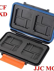 JJC Waterproof Extremely tough Memory Card Case MC-4 for 4CF 8XD 8Micro SD Cards (Not Include The Memory Card)