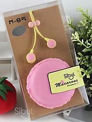 SIBL M85 3.5mm cena mkaron lindo auricular dulces en-oído para iPhone6&otros teléfonos celulares