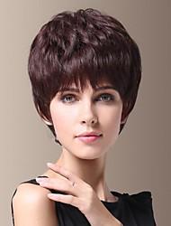 Fluffy Temperament of Human Hair Short Side Bang Hair Wig