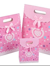 Bowknot Cardboard Favor Bags For Wedding  Set of 12
