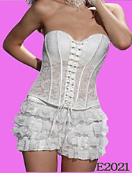 Satin And Poly-Cotton Plastic Boning Corset Shapewear Sexy Lingerie Shaper