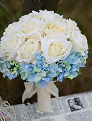 Elegant Rose Hydrangea Bridal Wedding Bouquet Large