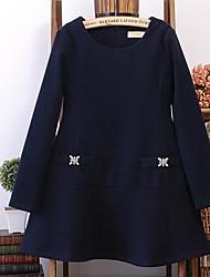 col rond robe de maternité de tweed lâche des femmes