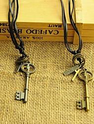 Европейский отдельные клавиши кожа pandant ожерелье (1шт)
