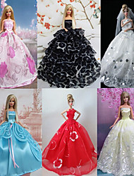 Barbie Doll Beautiful Fairy Style Princess Party Dress (6 pcs)