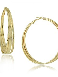 Fashion Alloy Three-ply Weave Big Circle Earrings(More Colors)
