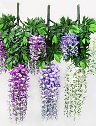 Polyester / Plastic Plants Artificial Flowers