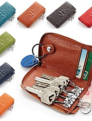 MEGA Women's &Men's Genuine Leather Car Key Holders Keys Hanging Wallets