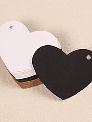 Heart Kraft Paper Hang Tags Lables for Bookmark Gift Bakery Packaging Favors Wedding Party Price Cards(Set of 50)