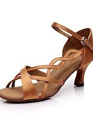 Солнце Лиза Латинской Настраиваемые женские сандалии атласа пряжки танцевальной обуви (больше цветов)