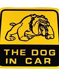série de bricolage le chien dans le design automobile sticker PVC de décoration pour voiture