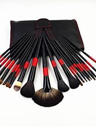 Professionnels animaux naturelle brosses luxry de cheveux de maquillage 22pc mis kit d'oeil blush poudre cosmétique avec sac