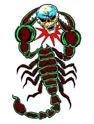 série bricolage mal batailles de scorpion motif de crâne conception PVC autocollant de décoration pour voitures et autres
