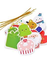 christmas tree décoration Cartes de voeux - multicolores (14 pcs)