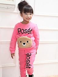 ropa de primavera y otoño traje 100% algodón niñas + pantalones