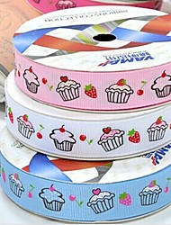 3/8 Inch Cake pattern Rib Ribbon Printing Ribbon- 25 Yards Per Roll (More Colors)