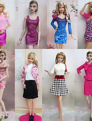 8 Pieces Office Fashion Style Barbie Doll Formal Business Suit