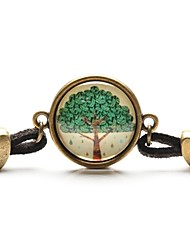 Time Gem Life Tree Pendant Necklace Art Tree Glass Cabochon Bracelet