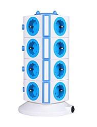 protetor de sobrecarga 5v / 2.1a de 4 andares com 15 pontos de venda da UE e duas réguas de energia USB