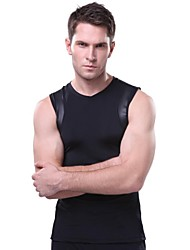 OUTTO Men's Black Quick Dry FItness Gym Compression Sleeveless Tank Top