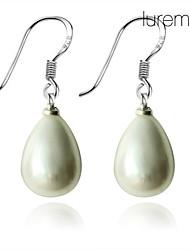 Lureme®12mm Water Drop Shaped Pearl Earring