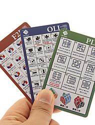 3pcs / set crianças / adultos pvc / curso opp mágicos cubos