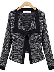 Polas Women's Causual European Loose Long Sleeve Knitwear Cardigan Coat