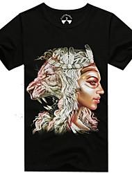 mannen o-hals zomer tijger en vrouw dier 3d gedrukte korte mouw t-shirt