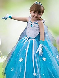 Girl's Frozen Long Dress Rose Baby Girl Dress Princess Dress Long-sleeve Dress