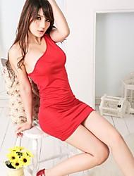 sexy com decote em v sleepwear lingerie sexy tamanho grande vestido boate roupas sem encosto boate