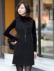 vestido del arco de estilo equipado coreano de las mujeres