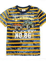 kinderkleding jongens t-shirt strepen korte mouwen auto gedrukt zomer jongens tees
