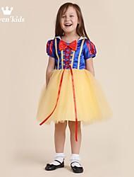 Girl's Yellow Dress,Solid Chiffon Summer / Spring / Fall