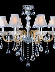 modello dorato lampadari di cristallo lampadari di moda E14 * 6