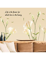 Wall Stickers Wall Decals, Style Lily PVC Wall Stickers
