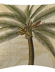 кокосовое дерево в бархатной памяти декоративная подушка крышкой