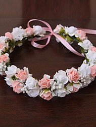 Women's Satin Rubber Headpiece-Wedding Special Occasion Outdoor Flowers Wreaths