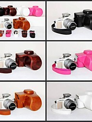 dengpin pu caméra étui en cuir Housse pour Olympus PEN E-pl7 epl7 avec 17mm ou l'objectif 14-42mm