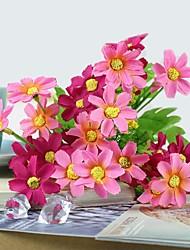 """11,8 """"l ensemble de 1 naturelles 28 têtes marguerites multicolores soie fleurs en tissu (couleurs assorties)"""