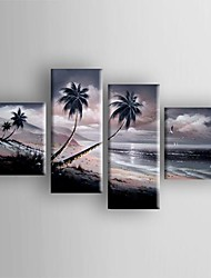 Oil Painting  Abstract Landscape Tree Set of  4 Hand Painted Canvas with Stretched Framed
