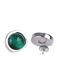 Huggie Earrings Women's Stainless Steel Earring Opal