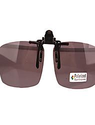 Résine rectangle de clip-on lunettes lentilles 100% UV400 des hommes
