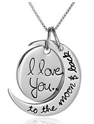 Fashion Sun And Moon Pendant Silver Alloy Pendant Necklace(Silver,Golden)(1 Pc)