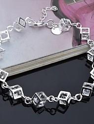 Femme Bracelet de cheville Zircon cubique Strass Original Mode Argent Arc-en-ciel Bijoux 1pc
