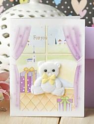 Hause Mini kleinen Bären Dankeschön-Karte Geschenkkarte