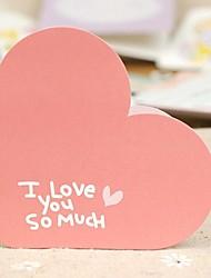 Heart Shaped Mini Valentine Greeting Card (7.5*7.5cm)