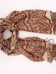 Women's Pattern Printed Scarf with Tassel(More Colors)