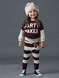 moda puro algodón conjuntos de ropa deportiva de ocio impresión del cráneo de la muchacha
