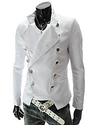 Men's Long Sleeve Jacket , PU Casual Pure
